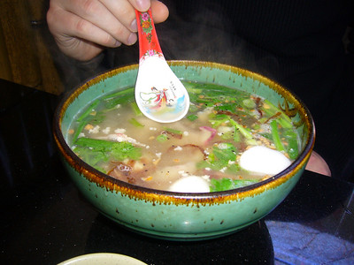 Emmett's House Special Noodle Soup w/ Naked Lady Spoon
