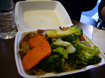 BBQ Duck Lunch Box with Vegies