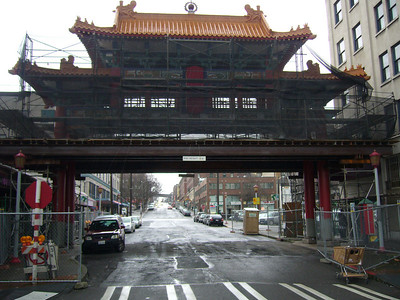 Historic Chinatown Gage with Scaffolding