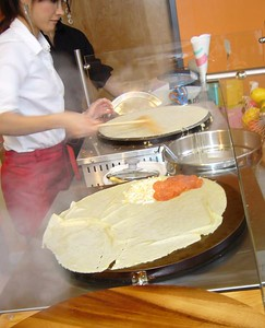 Pizza Crepe in production