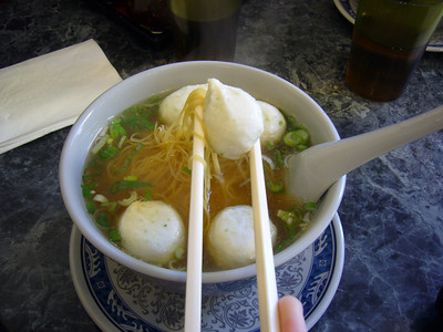 Special Fish Ball Noodle Soup