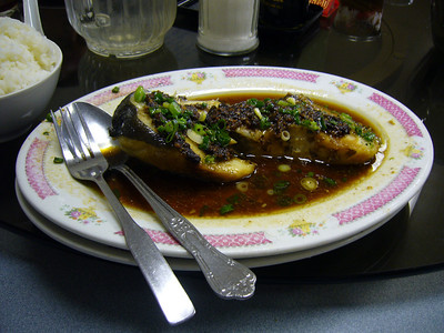 Cod with Black Bean Sauce