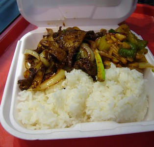 Mongolian Beef + Kung Pao Chicken