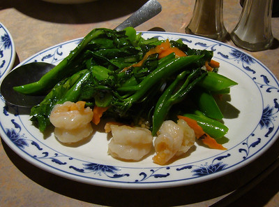 Chinese Broccoli with Prawns