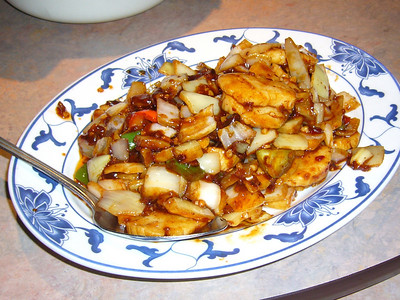 Scallops Szechuan Style