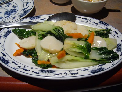 Chinese Greens and Scallops