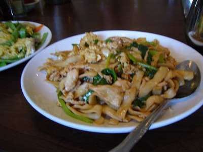 Hand Shaven Chow Mein Noodles with Chicken