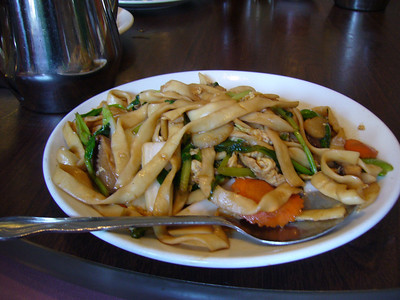 Hand Shaven Chow Mein Noodles with Vegetables