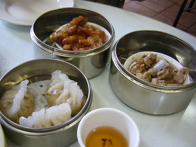 Pork Dumplings, Chicken Feet, Spareribs