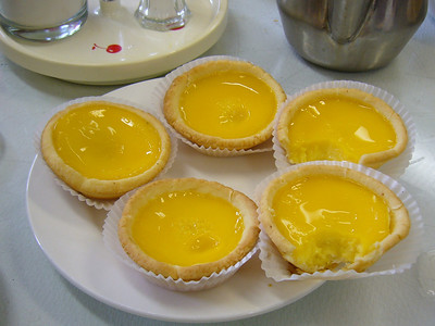 Egg Custard Tart (nibbled)