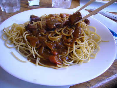 Spaghetti - Curry Sauce