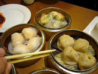 Shrimp Dumplings, Pork & Ginger Dumplings, Shrimp & Cilantro Dumplings