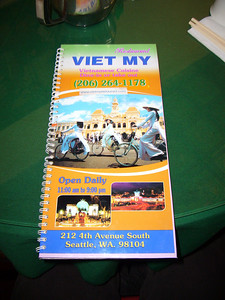 Viet My Menu (oddly glossy)