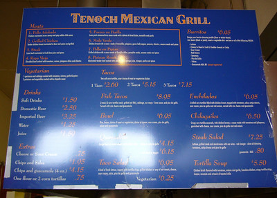 Tenoch Menu