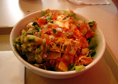 Taco Salad with Pollo en Pipian