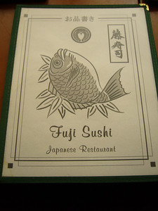 Fuji Sushi Menu Cover