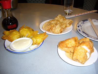 Tofu Shrimp Ball,  Tofu Shrimp Roll, Fried Shrimp Ball with Sweet Mayo Sauce