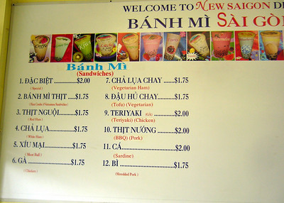 New Saigon Deli Menu