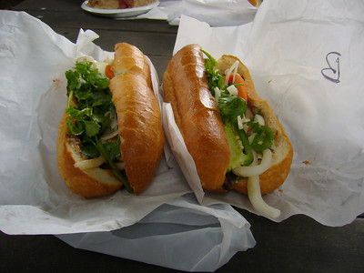 BBQ Pork Bahn Mi + Sardine Bahn Mi