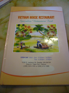 Vietnam House Menu