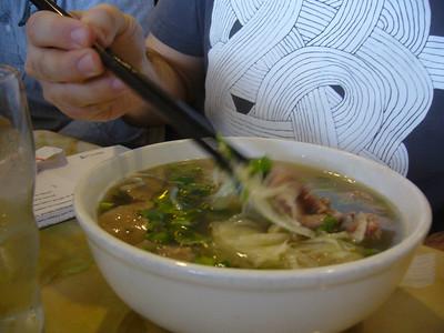 #13 - Pho Tai Bo Vien - Round Steak and Meatball (Small)
