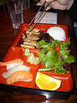 Bento Box with Chicken Teriyaki and Sushi