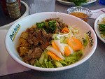 Lunch Combo #3: Bun Tom Thit Nuong with Fresh Spring Roll