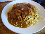 Spaghetti - Curry Sauce with Chicken Cutlet