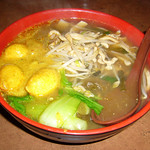As You Like, Pick & Choose with (c) Chinese Cabbage and Prok and (e) Curried Fish Balls on Rice Noodles