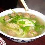 Meatball Noodle Soup with Hand Tossed Noodles