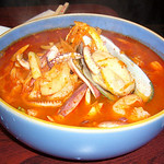 Hot Spicy Seafood Noodle Soup with Hand Tossed Noodles